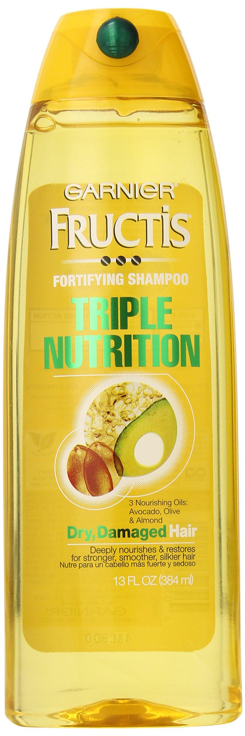 Garnier Fructis Triple Nutrition Shampoo, 13-Fluid Ounce