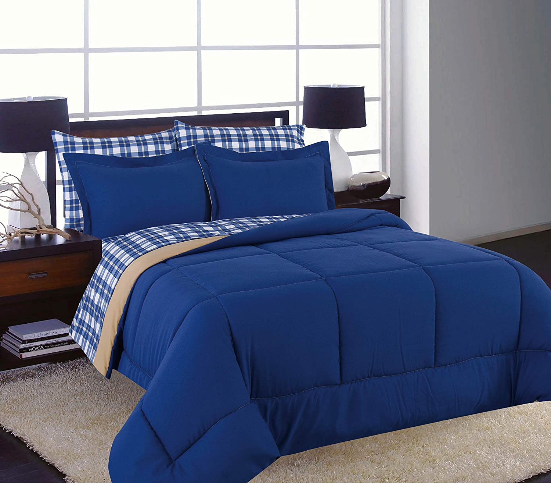 U.S. Polo Assn. Reversible 7-Piece Bed in a Bag Bedding Ensemble ...