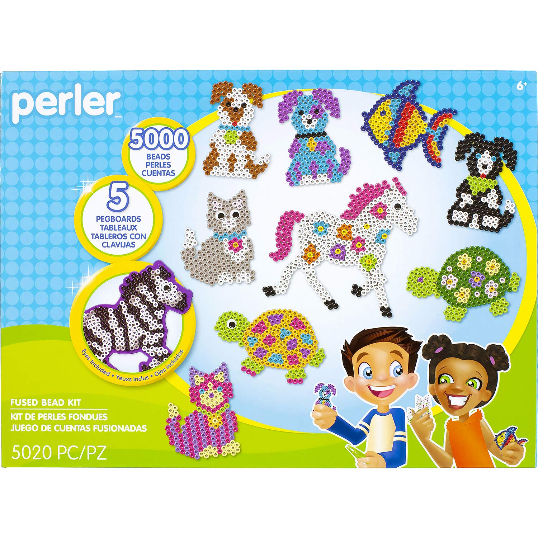 Perler Pet Parade Deluxe Fuse Bead Craft Activity Kit, 5019 pcs