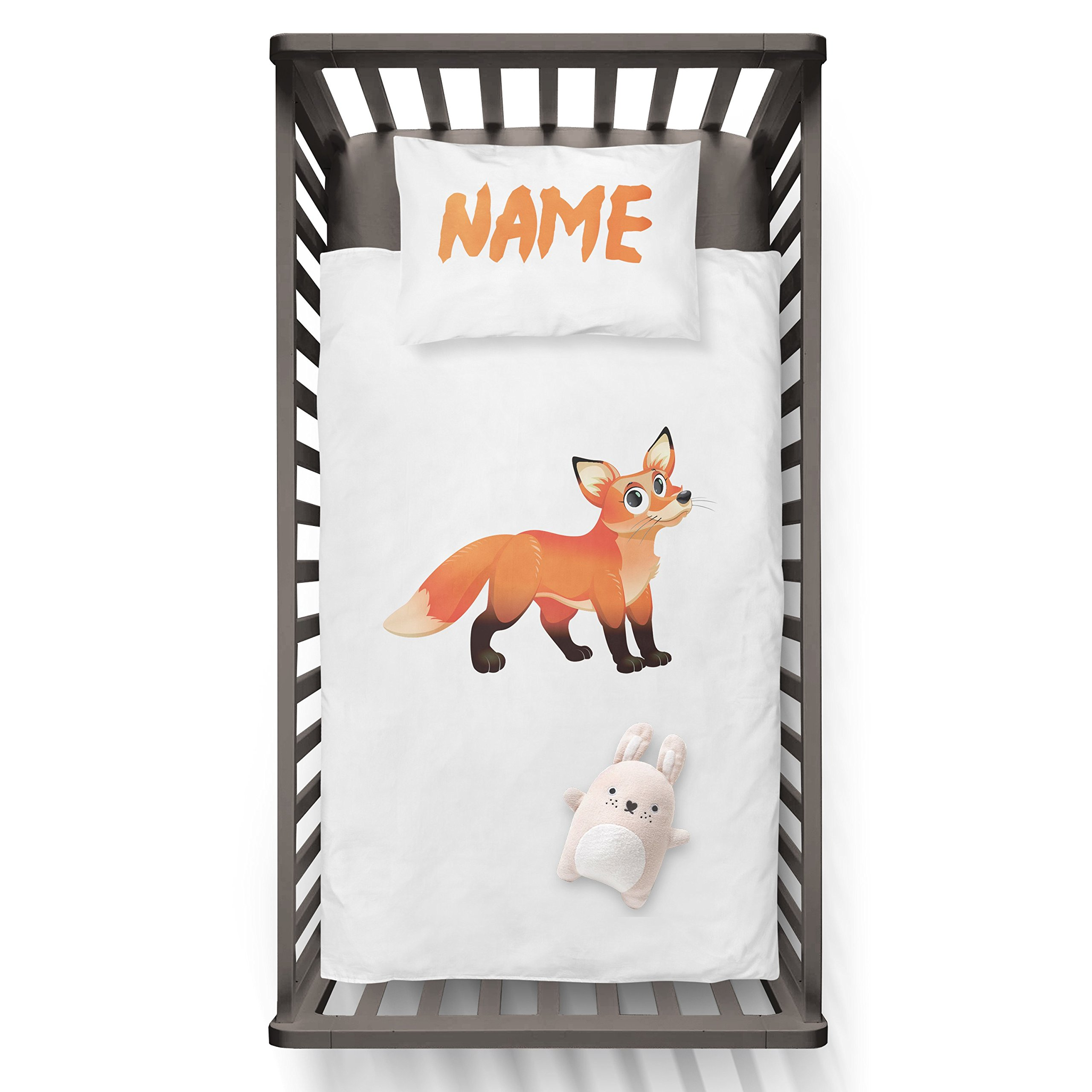 Zero Fox Given With Name On Pillow Funny Humor Hip Baby Duvet /Pillow set,Toddler Duvet,Oeko-Tex,Personalized duvet and pillow,Oraganic,gift