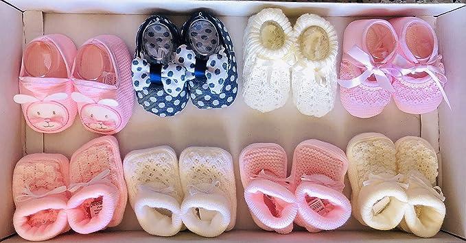 Patuco bebe niña 8 pares: Amazon.es: Bebé