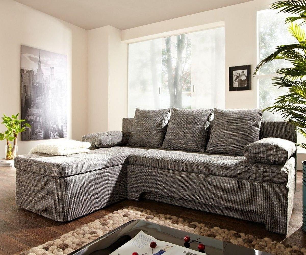 Couch Juline Grau 200x155 mit Schlaffunktion Ottomane variabel ...