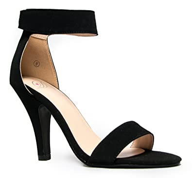 Image result for black heels with ankle strap open toe