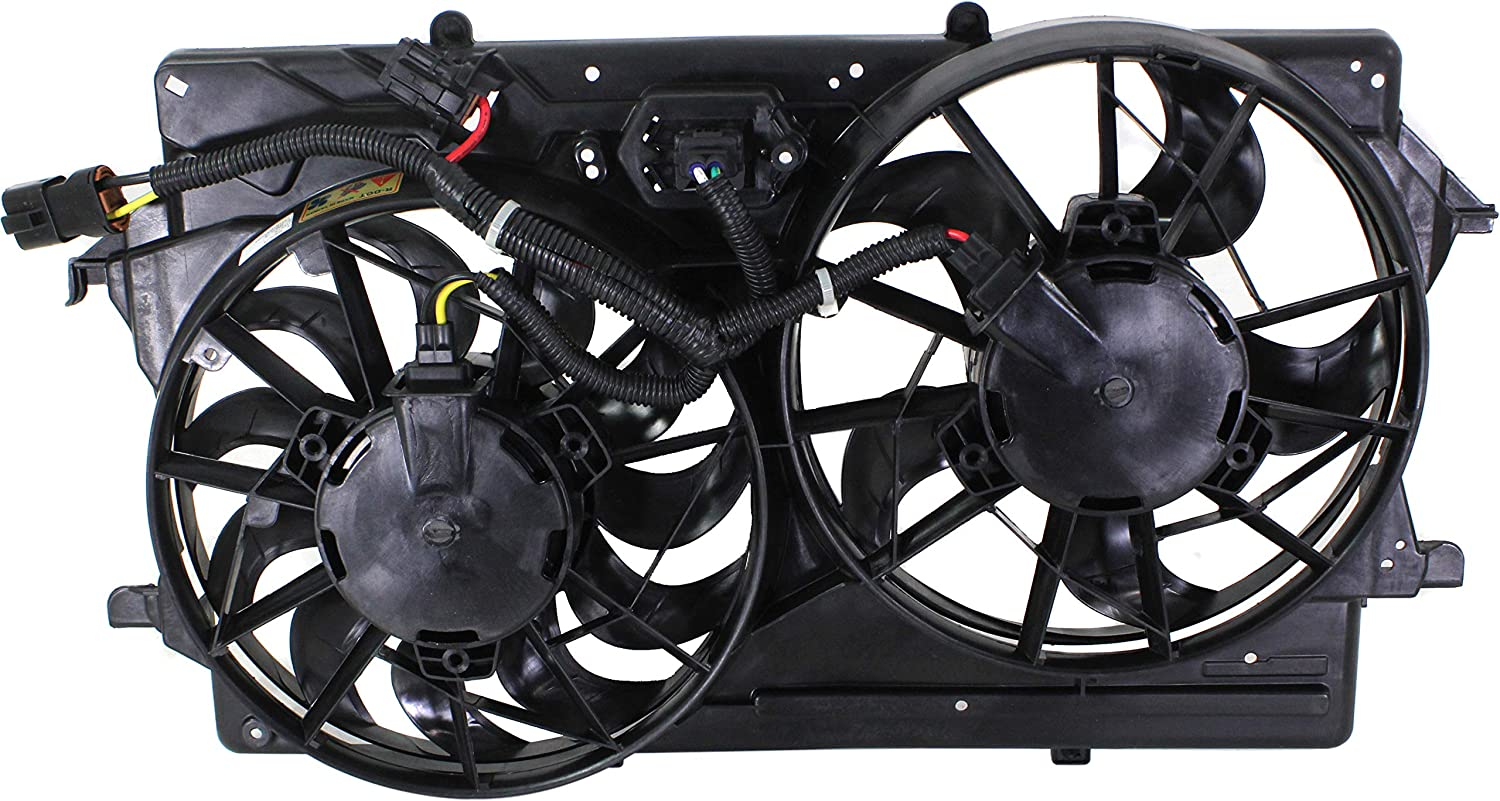 Garage-Pro Cooling Fan Assembly for FORD FOCUS 2000-2002 with A/C Double Plug Hole DOHC/SOHC 2.0L Engine
