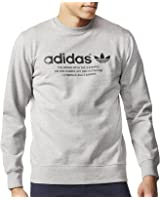 adidas Originals Mens Fashion Graphic Crew Neck Sweatshirt