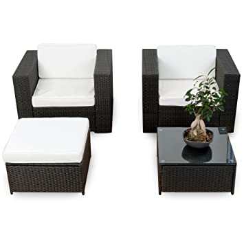 10tlg Xl Balkon Lounge Set Fur Balkon Und Terrase Erweiterbar Polyrattan Balkon Lounge Set Schwarz Gartenmobel Sitzgruppe Lounge Mobel Set