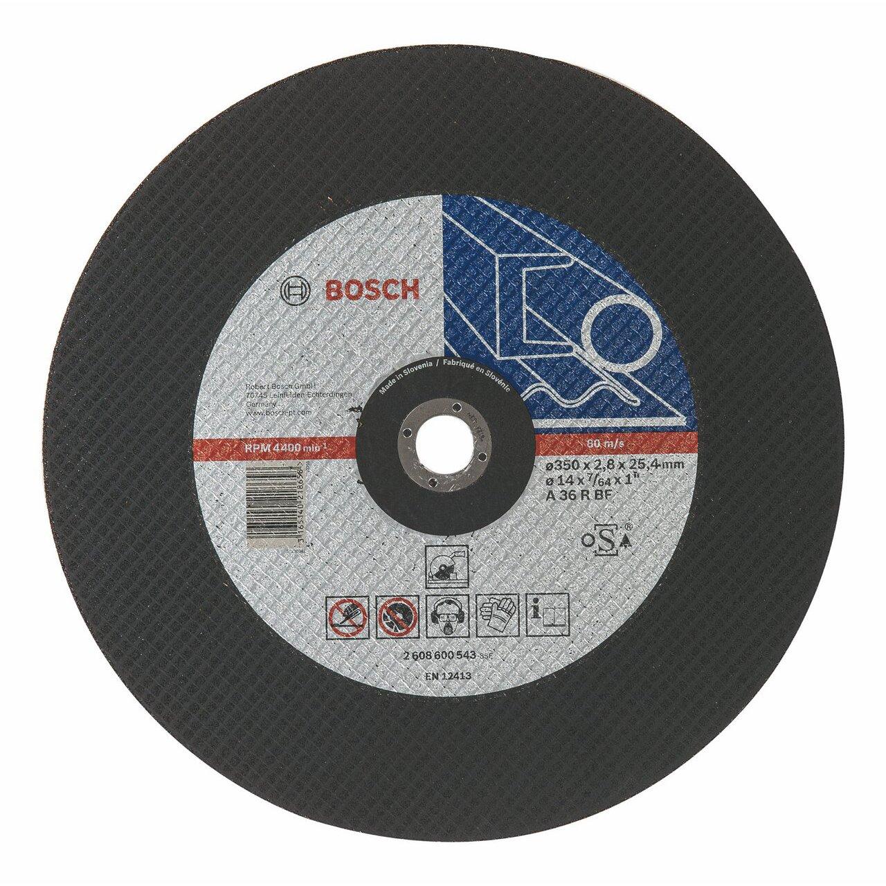 Bosch 2 608 600 543 - Disco de corte recto Expert for Metal - A 36 R BF, 350 mm, 25,40 mm, 2,8 mm (pack de 1) 2608600543