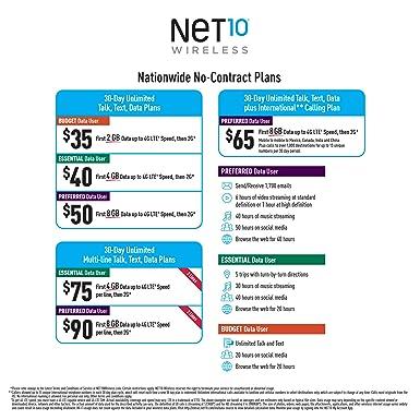 Net 10 Plans >> Net10 Lg Rebel 3 4g Lte Prepaid Smartphone