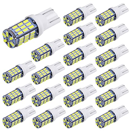 Amazon.com: Aucan 20pcs Super Bright RV Trailer T10 921 194 42 SMD 12V Car  Backup Reverse LED Lights Bulbs Light Width Lamp Xenon White: Automotive