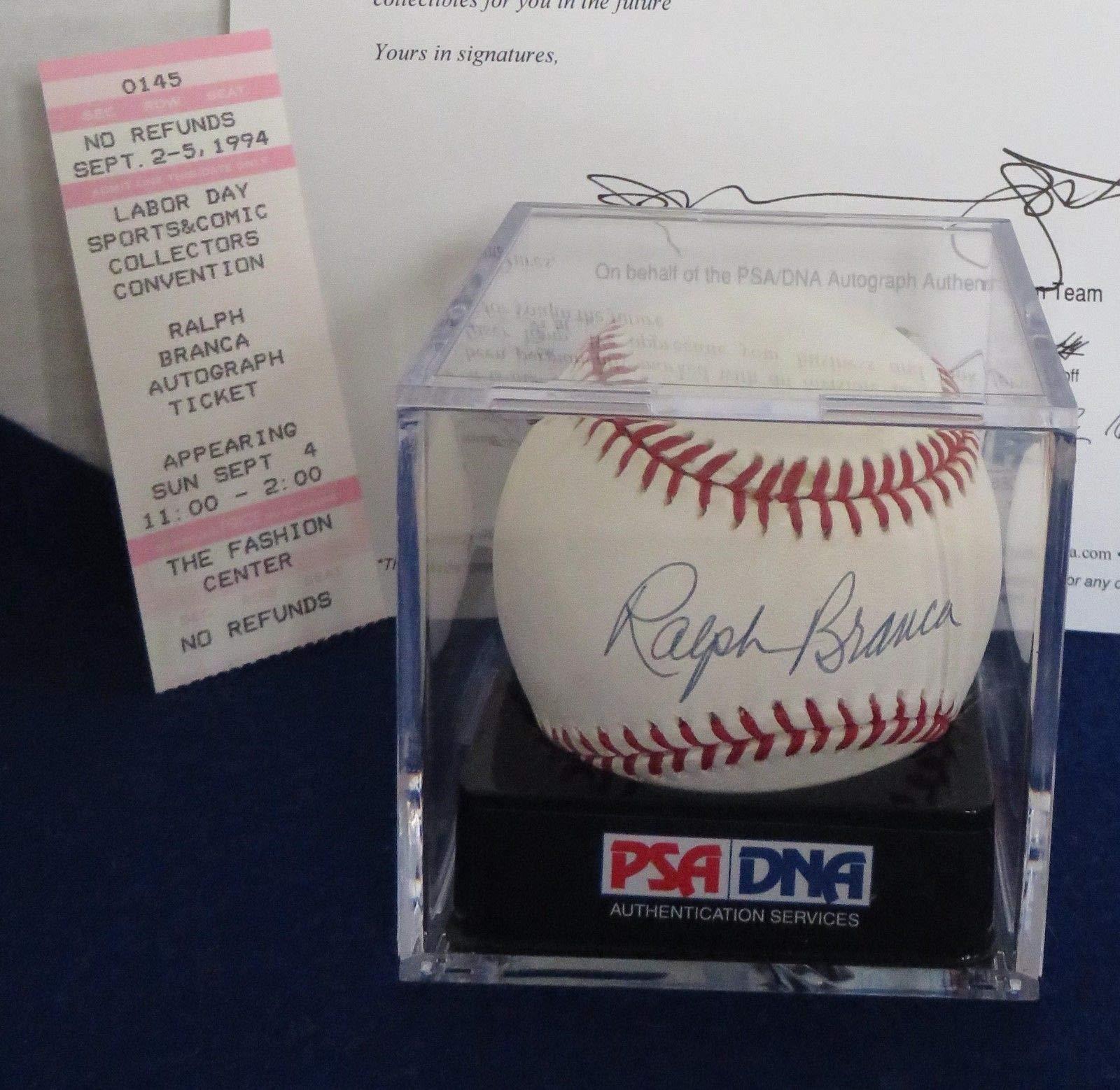Ralph Branca PSA/DNA Autographed Signed National League Baseball MLB Tristar Ticket Cert