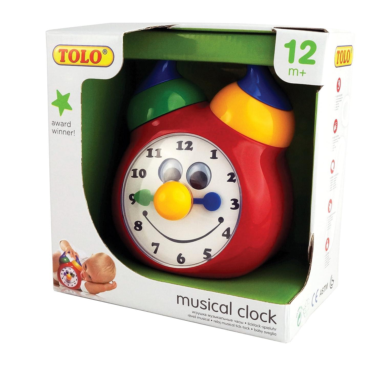 Amazon Tolo Toys Tick Tock Musical Clock Toys & Games
