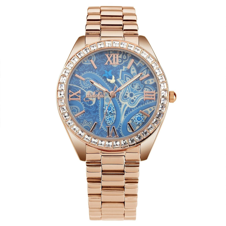 DidofÀ 3D Damen-Armbanduhr Analog Quarz DF-1004GR