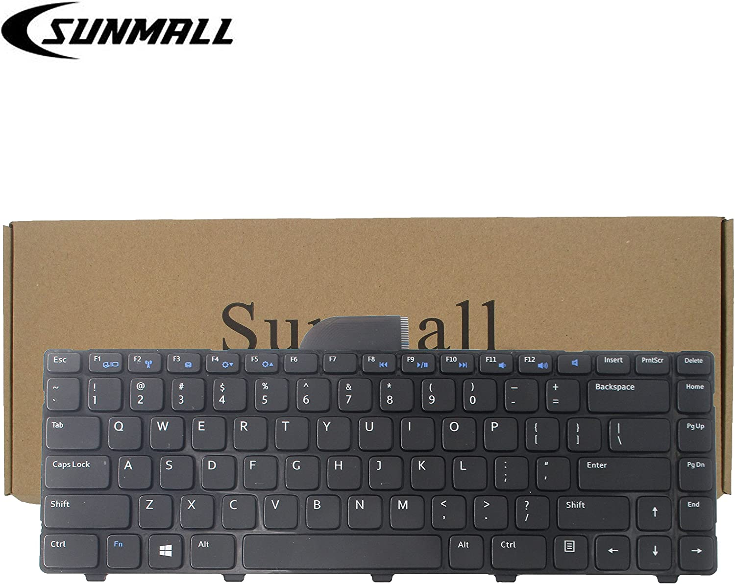 SUNMALL Keyboard Replacement Compatible with Dell Inspiron 14R 2158 3421 3437 5421 5437 15Z-5523 M431R,Vostro 2421, Latitude 3440 Series Laptop Black US Layout