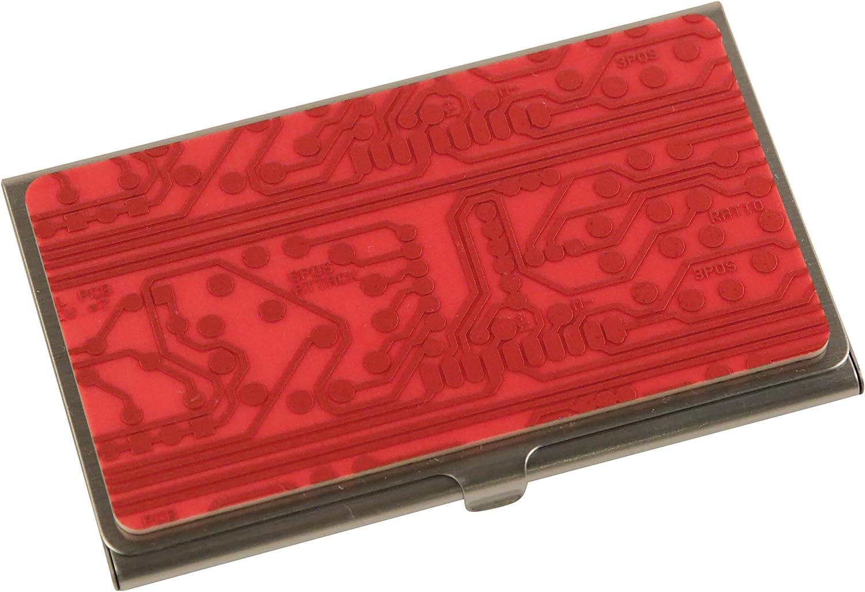 Circuit Motherboard Metal Business Credit Card Case Holder