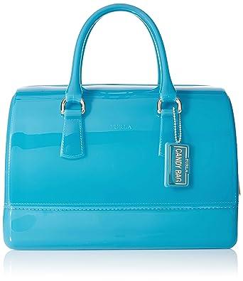 Amazon.com: Furla Candy Medium Satchel Handbag Turchese: Clothing