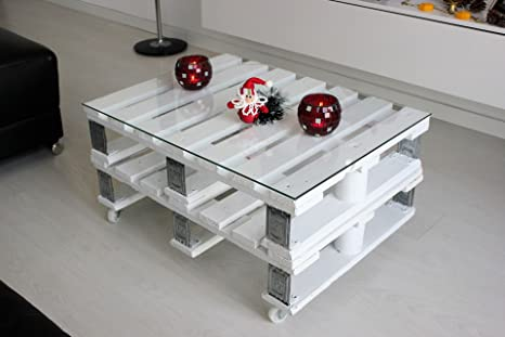 Mesa Doble Palet Vintage Industrial Dusseldorf. Color Blanco ...