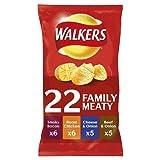 Walkers Meaty Variety Crisps, 22X25g