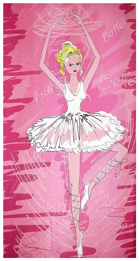 UniqueTowel Toalla de baño Playa Piscina para niña - Bailarina de Ballet Baillarina con Tutu.