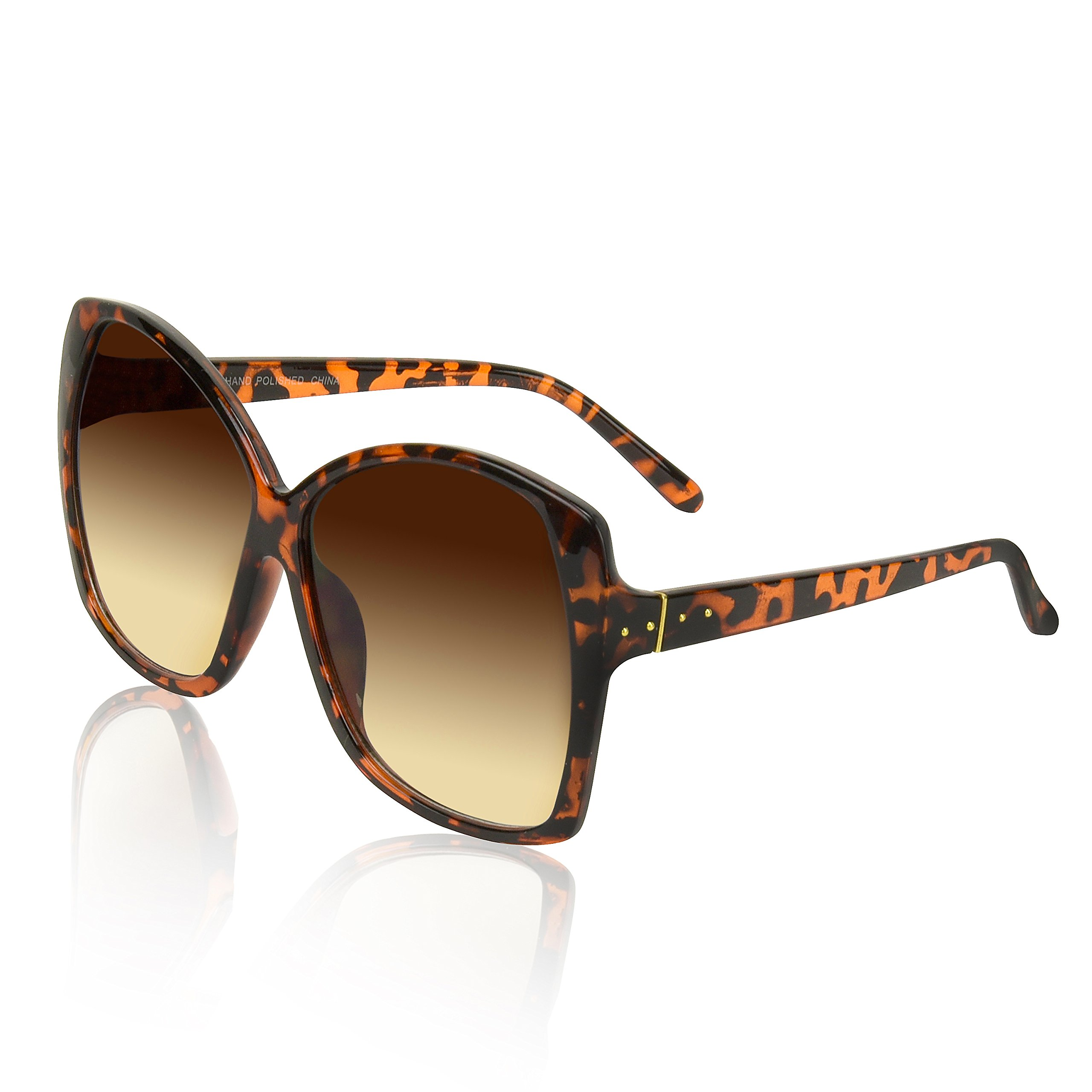 Ladies Girl Sunglasses For Woman Men Adults Lady Brown Luxury 70s Tort Gradient