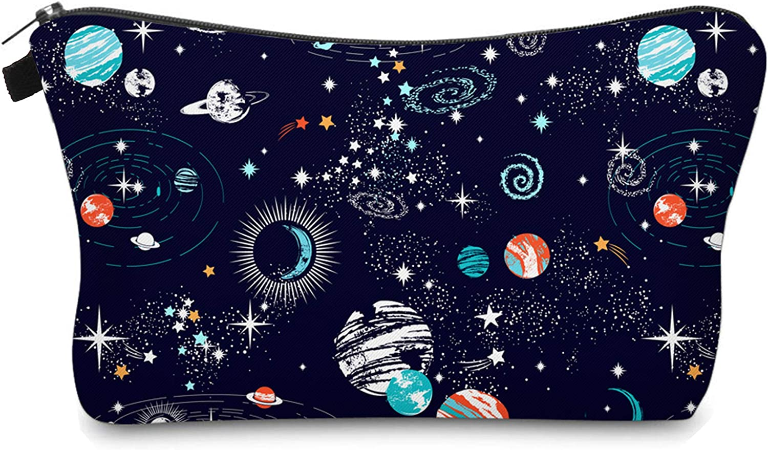 Cute Travel Makeup Bag Cosmetic Bag Small Pouch Gift for Women (Space)