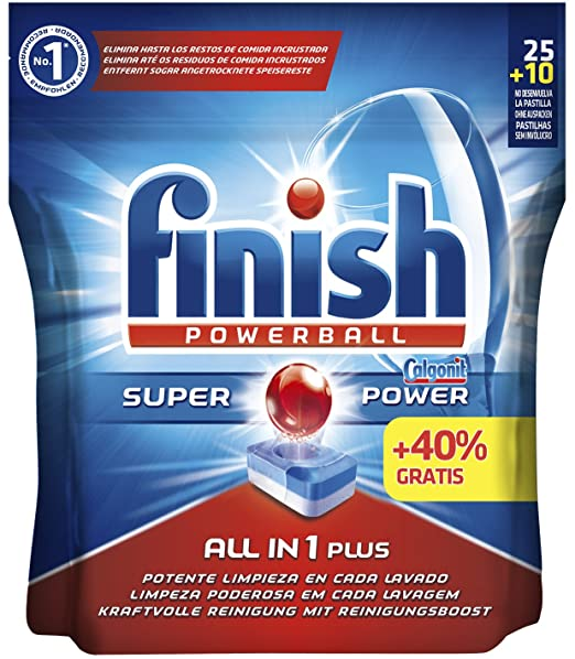 Finish Todo en 1 Max Regular Pastillas para Lavavajillas - 25 + 10 pastillas