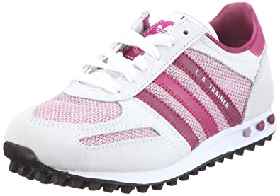 low cost 3edff d1e65 adidas Originals LA TRAINER J G51174, Unisex - Kinder, Sneaker, Weiss (WHITE