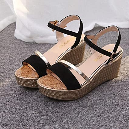 8b3c4f086a8 Image Unavailable. Image not available for. Color  Hemlock Women Lady High  Heel Sandals Wedge Sandals (US 7 ...