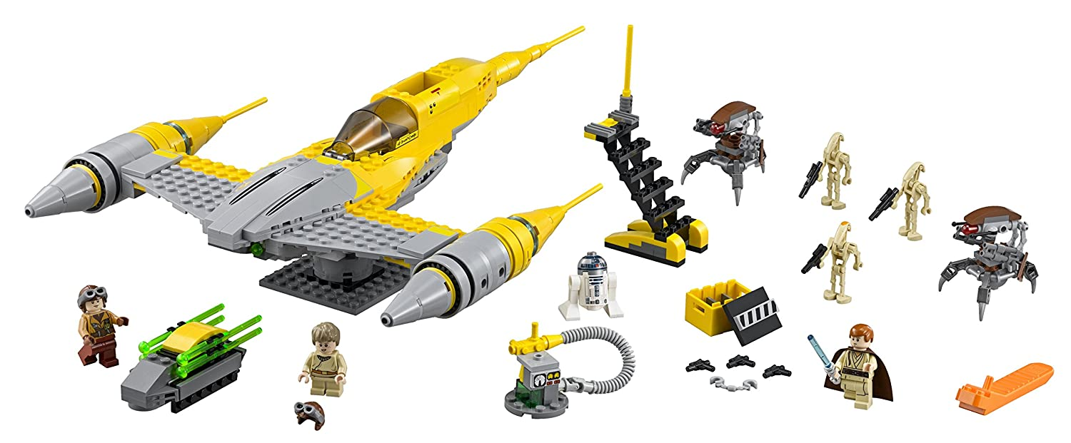 LEGO Star Wars - Naboo Starfighter, multicolor (75092): Amazon.es ...