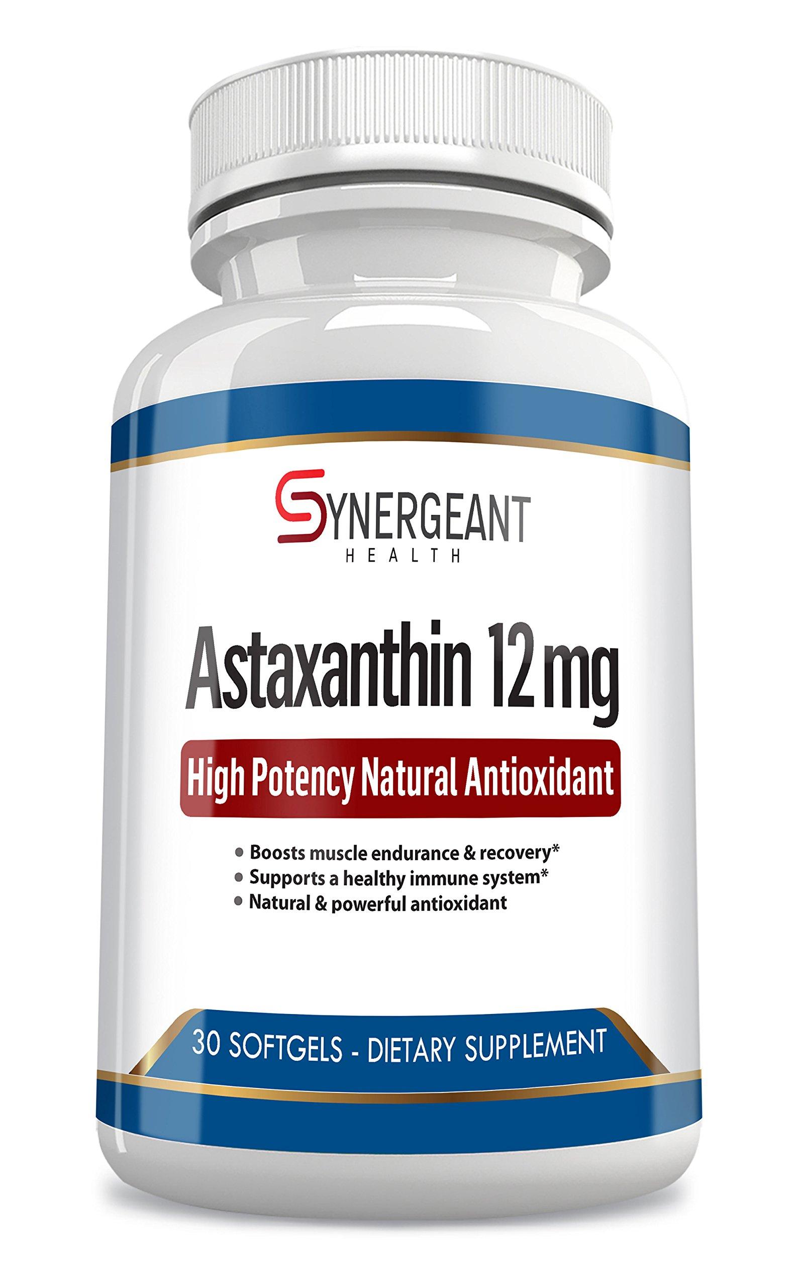 High Potency Astaxanthin 12 mg Natural Antioxidant 30 Softgels
