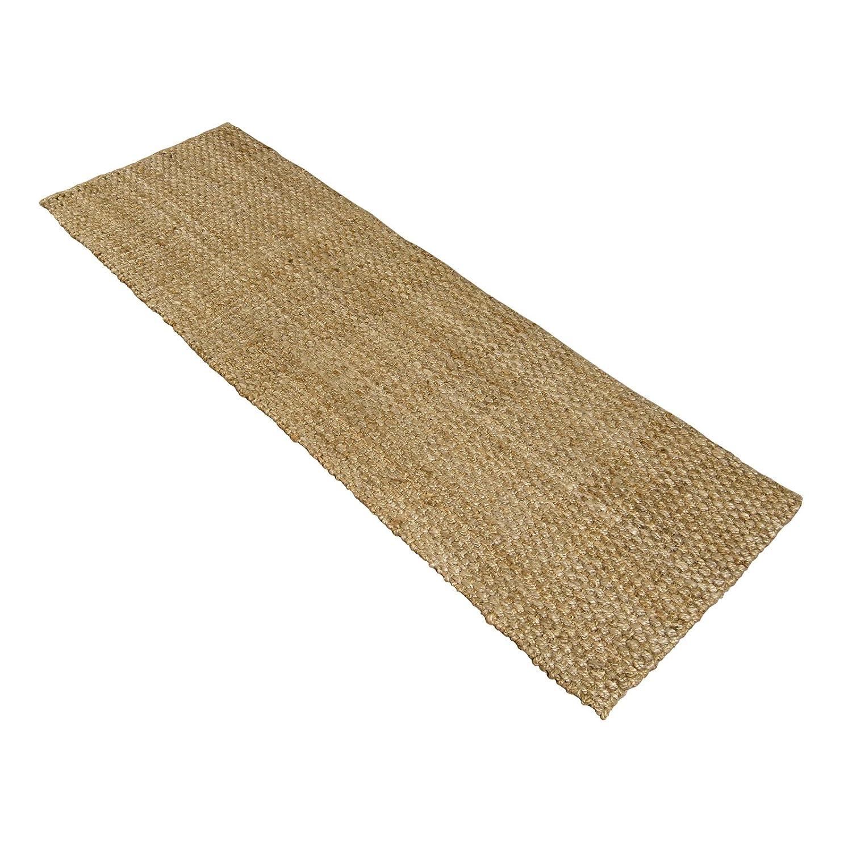 Charles Bentley Home 60X180cm 100% Natural Jute Hallway Runner Mat Carpet