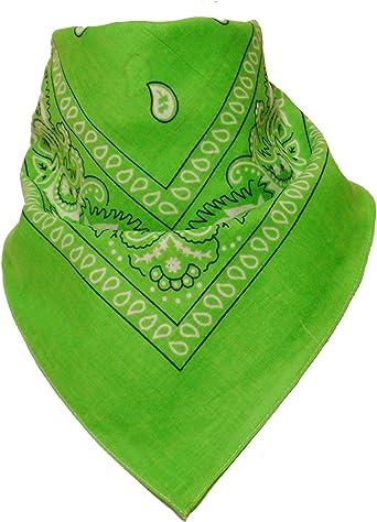 Alex Flittner Designs Bandana con dibujo Paisley en verde manzana: Amazon.es: Ropa y accesorios