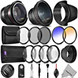 58mm Altura Photo Professional Accessory Kit for Canon EOS Rebel DSLR Bundle with Altura Photo Fisheye and Wide Angle Lenses