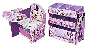 Brilliant Amazon Com Minnie Mouse Chair Desk With Multi Bin Creativecarmelina Interior Chair Design Creativecarmelinacom