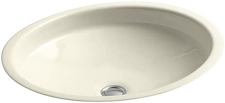 KOHLER K-2874-FD Canvas Cast Iron Bathroom Sink, Cane Sugar ...