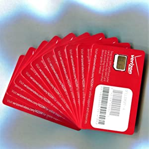 Verizon Wireless 4G LTE Certified MICRO/3FF SIM Card Lot of 10