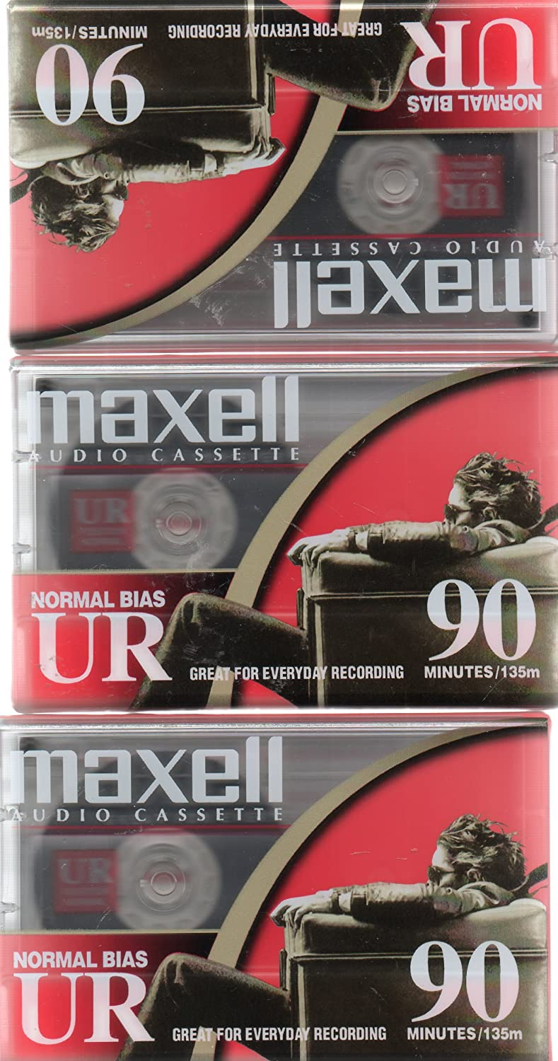 Maxell Audio Cassette, Normal Bias UR 90 Minutes (Pack of 3) 4773827