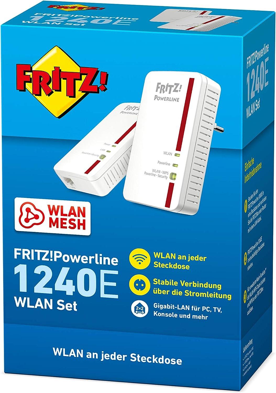 Avm Fritz Powerline 1240e 1000e Wlan Set White Computers Accessories