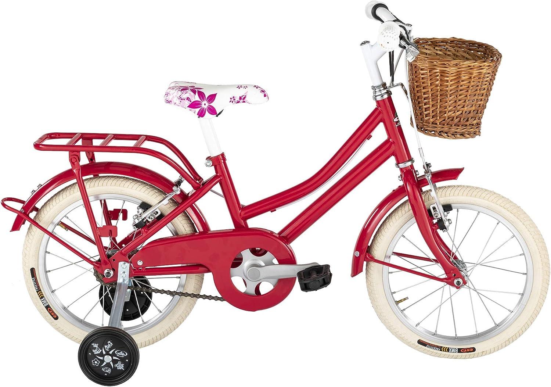 Bicicleta Holandesa de niña de Alpina con marco de acero, rojo, 28 ...