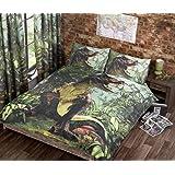 T Rex Double Quilt Duvet Cover Bed Set 2 P/cases Dinosaur Bedding Dino Jurassic