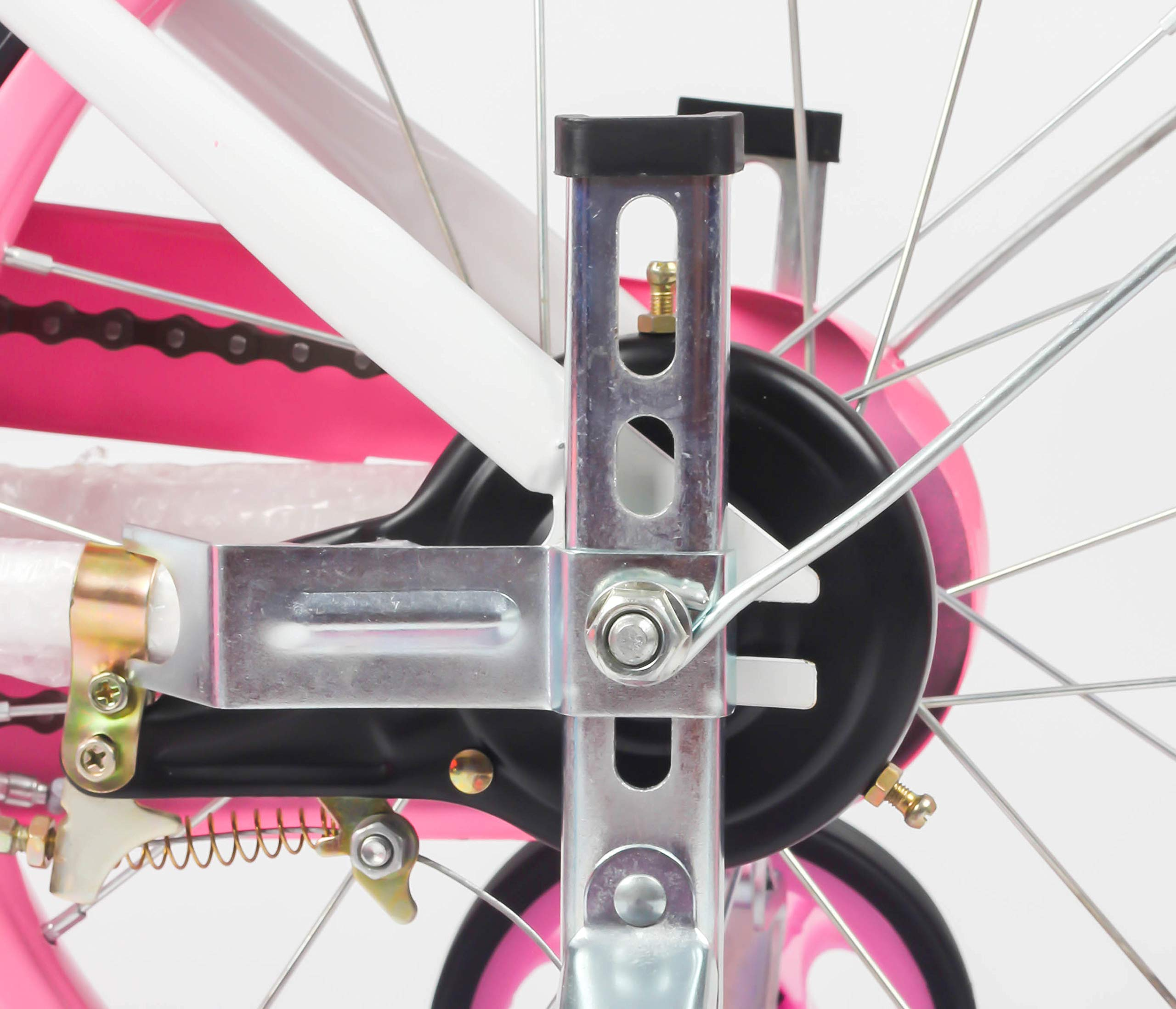 MOSHAY Training Wheels for Children's Bicycle stabiliser(for 14 16 18 20 inch Bike) (Pink)