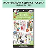 me & my BIG ideas Happy Memory Keeping Stickers - The Happy Planner Scrapbooking Supplies - Holidays Theme - Multi-Color - Great for Projects, Scrapbooks & Albums - 30 Sheets, 738 Stickers Total