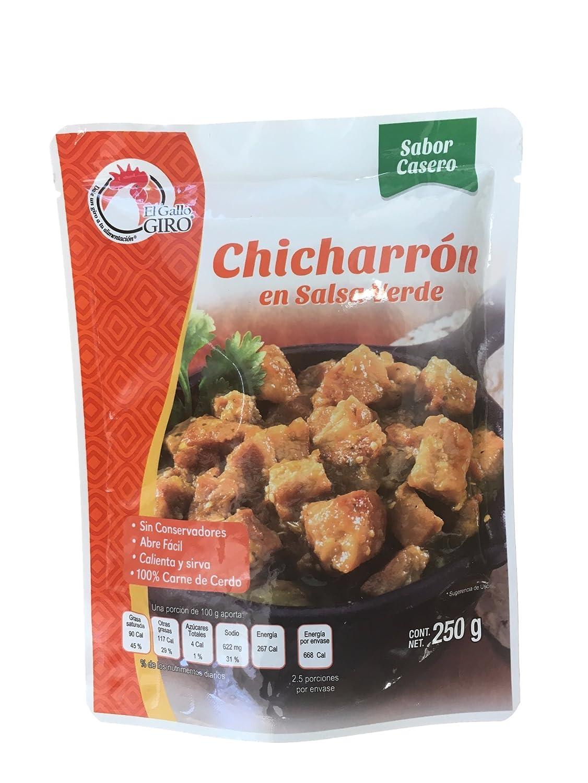 Amazon.com : Chicharron en Salsa Verde 250 gramos : Grocery ...