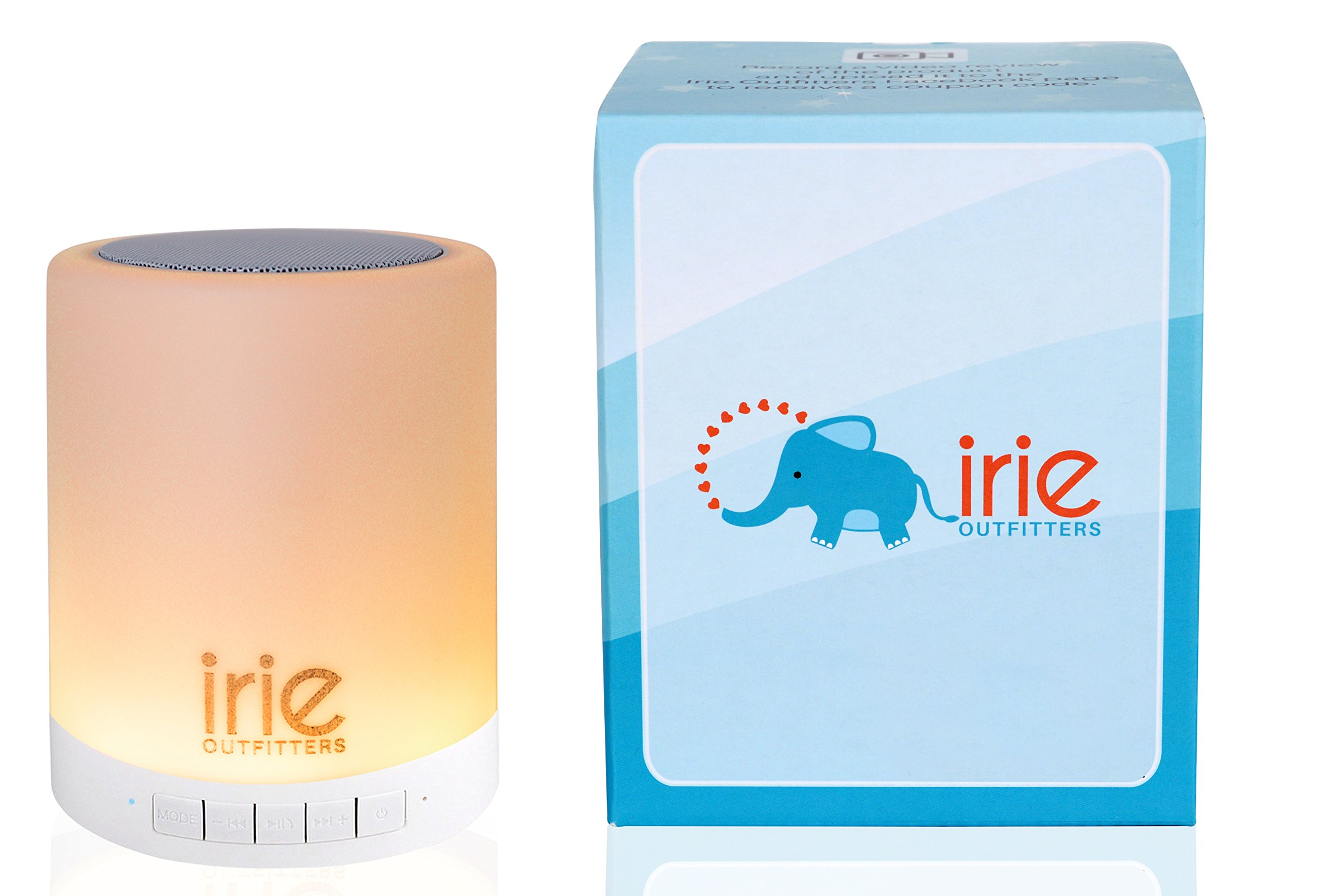 Irie Sleep Night Light and Sound Machine for babies, toddlers, and young children.