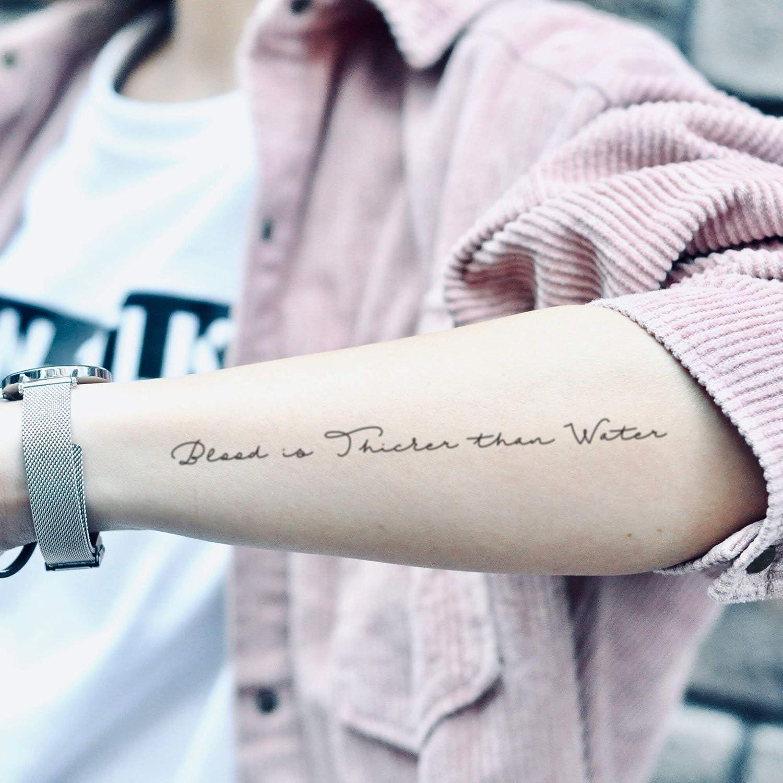 Tatuaje Temporal de La sangre es más espesa que el agua (2 Piezas ...