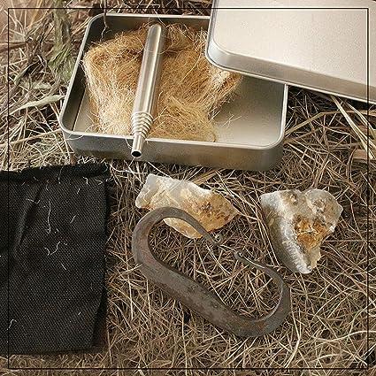 Amazon.com: Rissetree Flint Fire Starter English Flint Stone ...