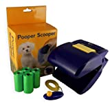 Dog Pooper Scooper with Clicker and Poop Bags