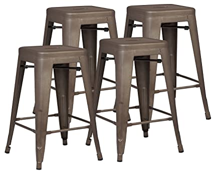 Amazing Poly And Bark Trattoria 24u0026quot; Counter Height Stool In Bronze ...