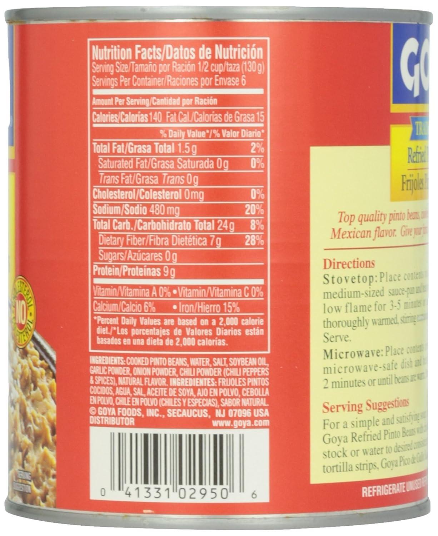 Amazon.com : Goya Traditional Pinto Refried Beans, 30 oz : Grocery & Gourmet Food
