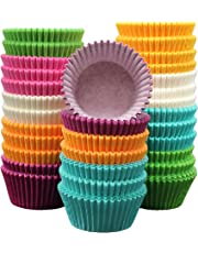 MontoPack 300-Pack Rainbow Paper Baking Cups - No Smell, Safe Food Grade Inks and Paper – Grease Proof Cupcake Liners – Perfect Cups for Cake Balls, Muffins, Cupcakes, and Candies …