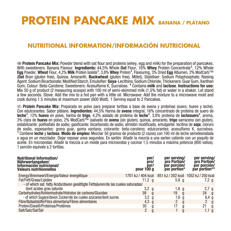 Weider Protein Pancake Mix Plátano - 600 gr